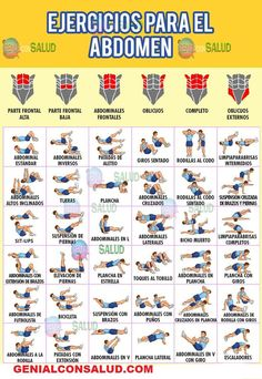 36 exercises FOR THE ABDOMEN. Here you will see in the photos a series of exercises that will help you to have a defined body. 36 exercises FOR THE ABDOMEN. Here you will see in the photos a series of exercises that will help you to have a defined body. Health And Wellness, Health Tips, Health Fitness, Health Benefits, Fitness Logo, Workout Fitness, Fitness Diet, Yoga Fitness, Fitness Style