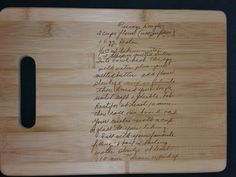 Custom engraved cutting board for Matthew from 3DCarving on Etsy