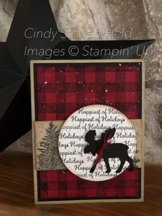 Stamped Christmas Cards, Homemade Christmas Cards, Christmas Cards To Make, Christmas Greeting Cards, Homemade Cards, Christmas Moose, Holiday Cards, Stamping Up Cards, Winter Cards