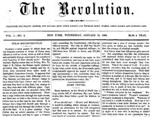susan b anthony the revolution newspaper - Google Search
