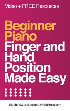 Beginner Piano Lessons, Piano Lessons For Kids, Music Lessons, Piano Hands, Music Theory Worksheets, Easy Piano Sheet Music, Easy Video, Elementary Music, Make It Simple