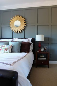 Love this Board & Batton Accent Wall. Great visual impact for seemingly not a lot of time or money.