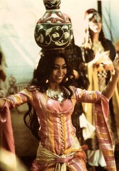 Zoraida performing the Pot Dance Choreography as part of the original Bal Anat belly dance troupe begun by Jamila Salimpour in 1968.