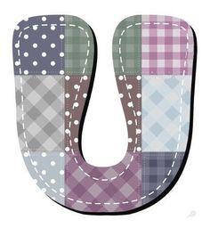 Buchstabe / Letter - U (Patchwork / Quilt)