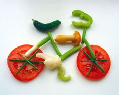 A bike made of vegetables!