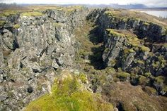 fissure zone between the North American and Eurasian Plates in Thingvellir National Park