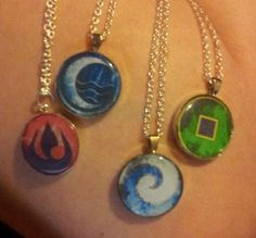 Avatar the Last Airbender Nation Pendants TOTALLY GEEKED OUT WHEN I SAW THESE!!!!!!!!!!