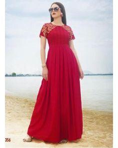 Red Satin Silk Gown
