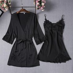 Pajamas Sets Silk Women Nightgowns Sexy Ladies Satin Nightwear Women Robe Nighties Sleepwear shorts combinaison pyjama femme - Women Robes - Ideas of Women Robes Sexy Pajamas, Satin Pajamas, Pajamas Women, Pyjamas Silk, Cute Sleepwear, Sleepwear Women, Lingerie Sleepwear, Bridal Nightwear, Sleepwear Sets