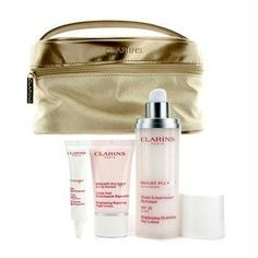 Clarins 'Skin Perfectors - Bright Plus' Collection by Clarins. $70.00. 3pcs+1bag. Set includes: - Bright Plus HP Brightening Hydrating Day Lotion SPF 20 (1.7 oz.): Lightweight brightening lotion-with exclusive sea lily extract-overcomes dullness by helping correct dark spots, freckles and an uneven skin tone. Moisturizes and shields skin from aging UV rays and harsh environmental influences. Gradually, darkness fades as skin regains clarity and brightness. Patent pending. - Br...