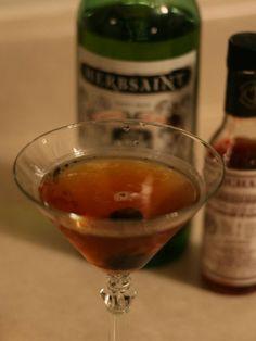 a la Louisiane: rye, benedictine, vermouth, herbsaint, peychauds, cherry