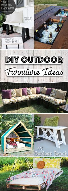 25 Breathtaking DIY Outdoor Furniture Ideas Adding a Dash of Life to Your Home
