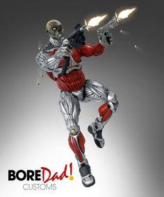 Custom Deathlok action figure - custom action figure - marvel legends