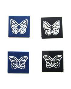 """STEP-BY-STEP DIY POLYMER CLAY TUTORIAL: VĚRA ŠULCOVÁ """"BUTTERFLY BANGLE"""" MADE WITH LC MICROSTENCILS Bangles Making, Clay Tutorials, Stencils, Polymer Clay, Butterfly, Fabrics, Fimo, Templates, Stenciling"""