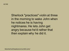 Sherlock Head Canon: Violin and nightmares