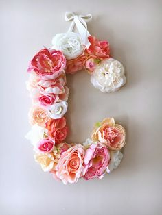 Flower Letters Floral Letters Nursery decor / Personalized