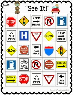 Road Trip Activities! A FUN resource! Street Sign Bingo!