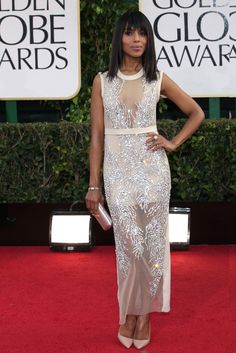 kerry washington at the golden globes {love this dress}