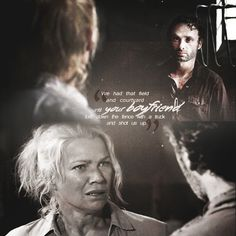 """Rick telling Andrea what the Governor really did, The Walking Dead 3x11 """"I Ain't a Judas."""""""