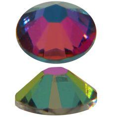 Swarovski Electra Coated Crystal  | SWAROVSKI 2058 Rhinestones FlatBack 16ss Electra Bottom Coated