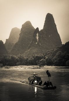 There are thousands of little rivers that flow through these huge karst mountains. Fisherman have been around here forever, and I like this idea that this scene could have happened almost any time in history. There are fewer fishermen nowadays, but they can still be seen.  - Li River, China - Photo from #treyratcliff Trey Ratcliff at http://www.StuckInCustoms.com
