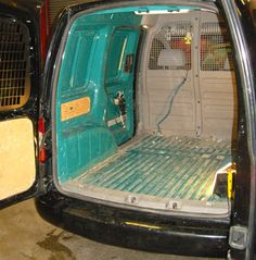 VW Caddy - Before carpeting to all panels - www.vanax.co.uk