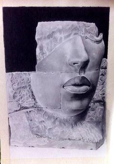 Primer retrato en grafito.