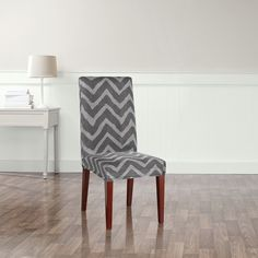 Global CoverWorks Sienna Suede Relaxed Fit Long Dining Chair ...