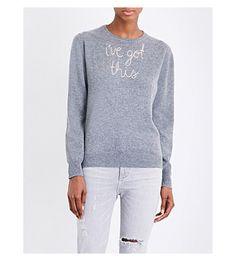 LINGUA FRANCA - I've Got This cashmere jumper | Selfridges.com