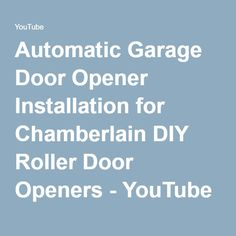 369 diy garage roller door openers chamberlain diy shopping