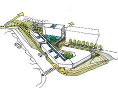 Architecture Concept Drawings, Architecture Design, Masterplan, Mix Use Building, Hotel Concept, Presentation Layout, Hand Sketch, Urban Planning, Design Process
