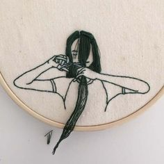 Hairstyles That Cascade From Embroidered Hoops by Sheena Liam