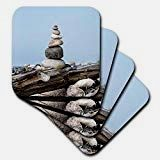 Andrea Haase Nature Photography - Balanced Stone Cairn On Driftwood With Blue Sky - set of 8 Ceramic Tile Coasters - Driftwood 4 Us Ceramic Coasters, Tile Coasters, Aquarium Shop, Stone Cairns, Sky Digital, Driftwood Furniture, Orange Sky, Sandy Beaches, The Fresh