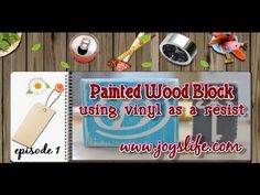 Check out the video below to learn how to use vinyl as a resist to make these shabby chic wood blocks for your home decor! Need vinyl? I like to buy mine from Expressions Vinyl. Step by Step Video. Silhouette Cameo Projects, Silhouette Studio, How To Make Paint, Used Vinyl, Cricut Vinyl, Vinyl Projects, Wood Blocks, Getting Things Done, Craft Videos