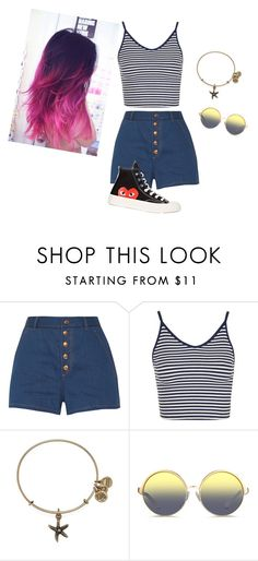 """""""Untitled #127"""" by aahd-nagib on Polyvore featuring rag & bone, Topshop, Alex and Ani, Matthew Williamson and Comme des Garçons"""