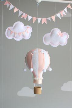 Bébé Mobile Mobile ballon Air chaud rose et par sunshineandvodka