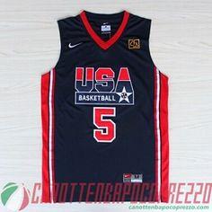 maglie basket USA 1992 Robinson # 5 blu