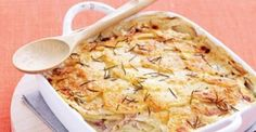Creamy and budget-friendly, this bake is a wonderful side dish to beef, lamb or chicken. Sliced Ham, Sweet Potato, Side Dishes, Cooking Recipes, Yummy Food, Fresh, Vegetables, Lamb, Dips
