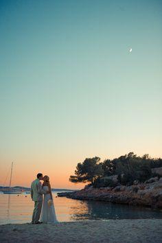 Summer skies Beach wedding Ibiza