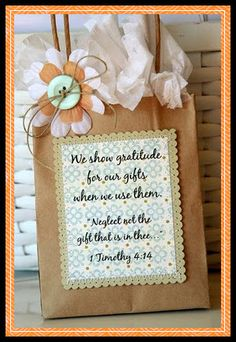 Spiritual Gifts Handout Idea
