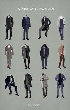 Menswear Winter Layering Tips - Men's Winter Fashion - Mens, Women's Outfits Style Gentleman, Modern Gentleman, Gentleman Shop, Gentleman Fashion, Stylish Mens Fashion, Stylish Menswear, Fashion Menswear, Men Winter Fashion, Stylish Winter Wear For Men