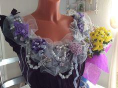 "Купить Блузка нарядная "" Пурпур"". - фиолетовый, цветочный, блузка ручной работы, блузка нарядная. Shabby chic, Romantic Cinderella, Hippie Gipsy Boho, Bohemian Shabby dress, Textile collage."