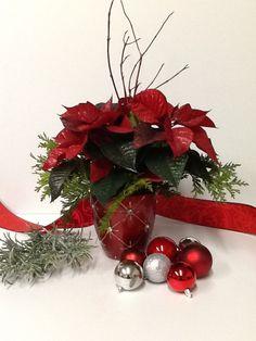 Poinsettias décoré