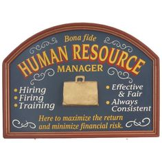 Human Resources Wood Sign