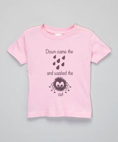 The Talking Shirt Light Pink 'Down Came the Rain' Tee - Infant & Toddler by The Talking Shirt #zulily #zulilyfinds