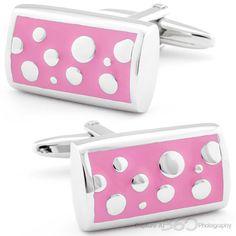 Pink and Silver Dream Cufflinks by Cufflinksman #Cufflinks #Fashion #Jewelry #shopping