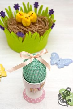 Two Tone Crochet Easter Egg Covers
