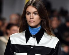 Cindy Crawford's daughter Kaia Gerber Makes her Runway Debut (Photos) Kaia Gerber makes runway debut Kaia Gerber Kaia Gerber the daughter of American actress and supermodel Cindy Crawford officially made her runway debut during New York Fashion Week on Thursday.Kaia Gerber 16 who has an uncanny resemblance to her mom kicked off her very first runway at Raf Simons Calvin Klein show on Thursday. The stunning Kaia modelled for the show wearing a colour-block button down shirt over a royal blue…