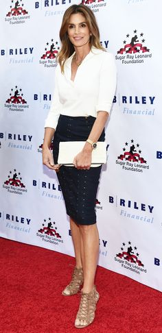 Let Cindy Crawford Demo How to Rock a Pencil Skirt on a Night Out from InStyle.com
