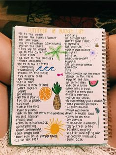 summer goals for teens Journal, summer bucket list - summergoals